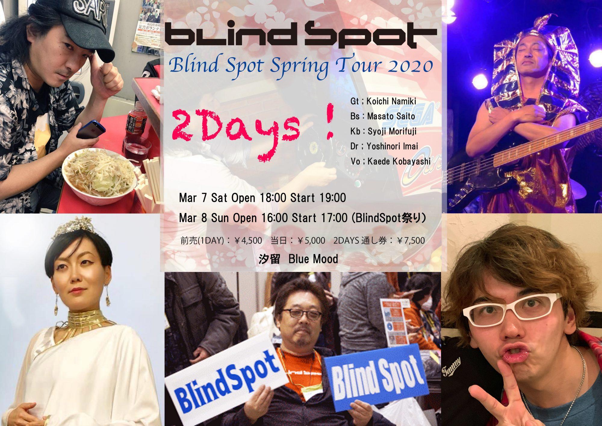 BlindSpot Spring Tour 2020